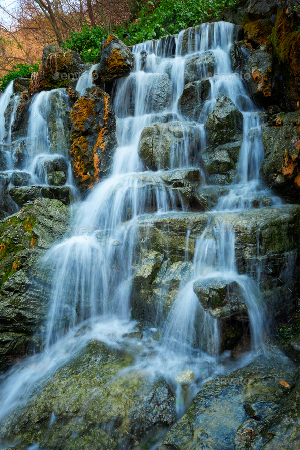 small waterfall cascade stock photo by f9photos
