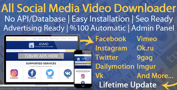 All Social Media Video Downloader V4 - CodeCanyon Item for Sale