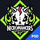 Necromancers - eSports Team PSD Template - ThemeForest Item for Sale