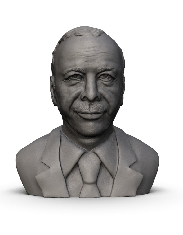 3D Print Model of Recep Tayip Erdogan - 3DOcean Item for Sale