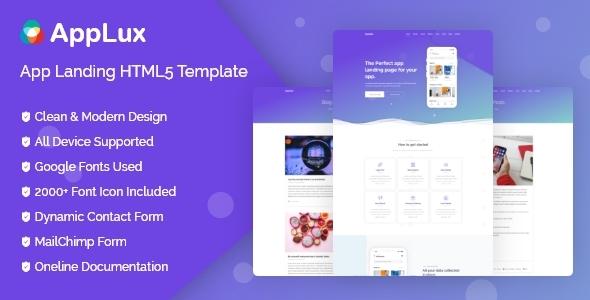 Appollo - App Landing HTML5 Template
