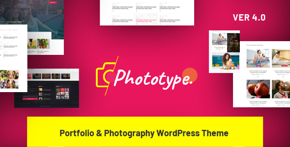 Phototype - New Elementor Portoflio WordPress Theme 2019 for Agency, Photography Sites - Portfolio Creative