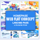 Flat Design Landing Page Templates - GraphicRiver Item for Sale