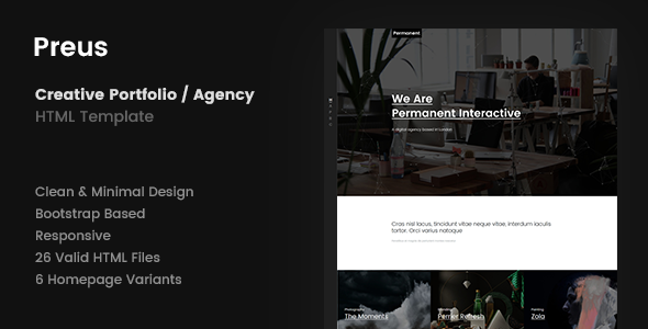 Preus – Digital Agency / Portfolio Template
