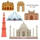 Indian Most Famous Sights Set - GraphicRiver Item for Sale