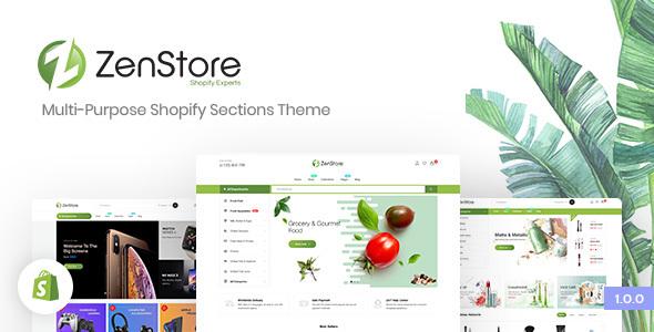 ZenStore | Multi-Purpose Shopify Sections Theme