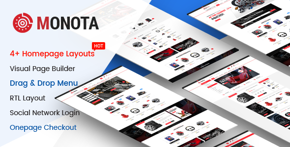 Monota - Auto Parts, Tools, Equipments and Accessories Store Opencart Theme - OpenCart eCommerce