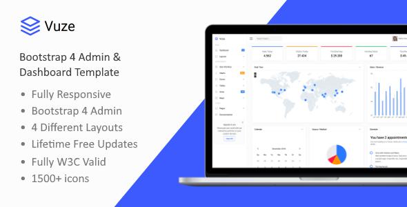 Great Vuze - Bootstrap 4 Admin & Dashboard Template