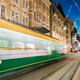 Helsinki, Finland. Tram Departs In Motion Blur From Stop On Alek - PhotoDune Item for Sale
