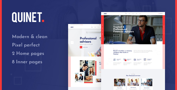 Excellent Quinet - Business Consulting and Professional Services HTML Template