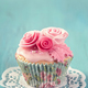 Cupcakes with pink flowers - PhotoDune Item for Sale