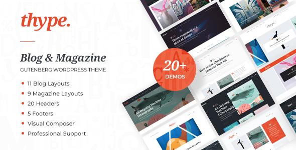 Thype   Multi-Concept Blog & Magazine WordPress Theme - News / Editorial Blog / Magazine