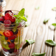 Assorted berries in mason jar on kitchen wooden table - PhotoDune Item for Sale