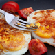 Fried eggs in a pan with smoked paprika and cherry tomatoes - PhotoDune Item for Sale