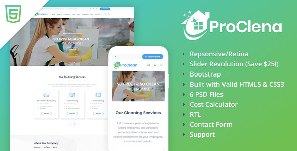 ProClena - Cleaning HTML Template by websmirno