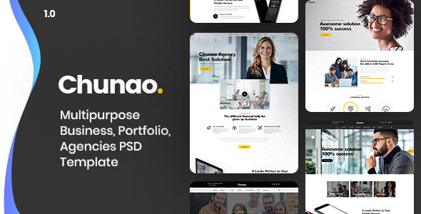 Chunao - Multipurpose Business PSD Template