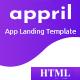 Appril - App Landing HTML Template - ThemeForest Item for Sale