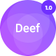 Deef -  App Landing HTML5 Template - ThemeForest Item for Sale