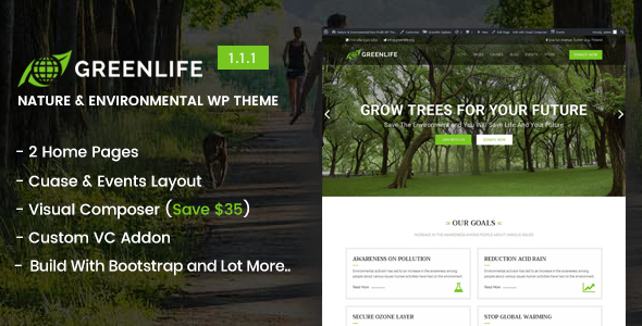 Greenlife - Nature & Environmental WP Theme - Environmental Nonprofit
