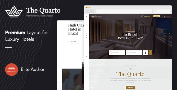 Online Hotel Booking WordPress Theme - The Quarto