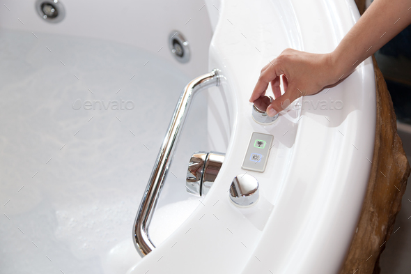 Whirlpool bath - Stock Photo - Images