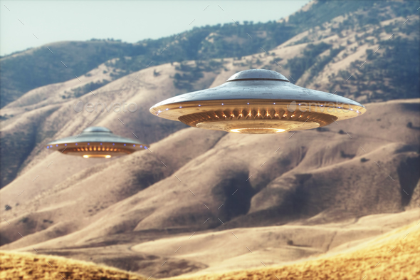 Unidentified Flying Object UFO - Stock Photo - Images