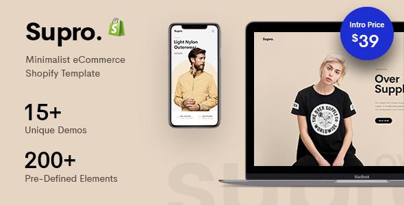 Supro -  Minimalist Responsive Shopify Theme
