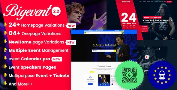 BigEvent- Conference Event WordPress Theme
