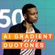 50 AI Gradient Duotone Actions - GraphicRiver Item for Sale