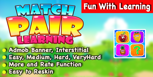 Match Pair Learning + IOS Version + Best Kids Puzzle Game