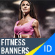 Fitness Banners - Sport Banner Set - GraphicRiver Item for Sale