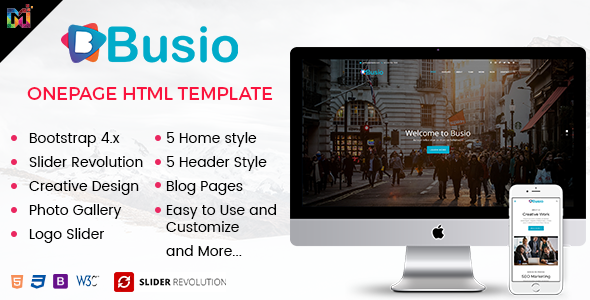 Wondrous Busio - Multipurpose HTML Template