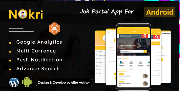 Nokri - Job Board Native Android App - CodeCanyon Item for Sale