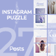 Instagram Puzzle Template - GraphicRiver Item for Sale