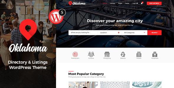 Oklahoma - Directory & Listing WordPress Theme