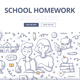 School Homework Doodle Concept - GraphicRiver Item for Sale