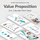 Value Proposition 3 in 1 Pitch Deck Bundle Google Slide Template - GraphicRiver Item for Sale