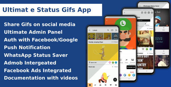 Download Ultimate Status Gif App Nulled