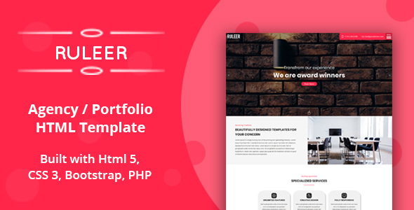 Ruleer - Agency / Portfolio HTML Template by Themesfolio
