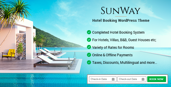 Sunway - Hotel Booking WordPress Theme - Travel Retail