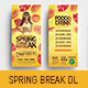 Spring Break DL Card Template - GraphicRiver Item for Sale