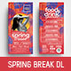 Spring Break DL Rack Card - GraphicRiver Item for Sale