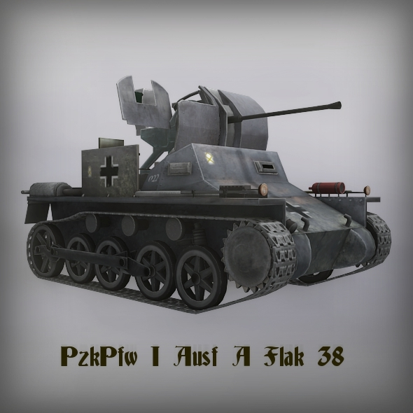 PzKpfw I Ausf A Flak 38  - 3DOcean Item for Sale