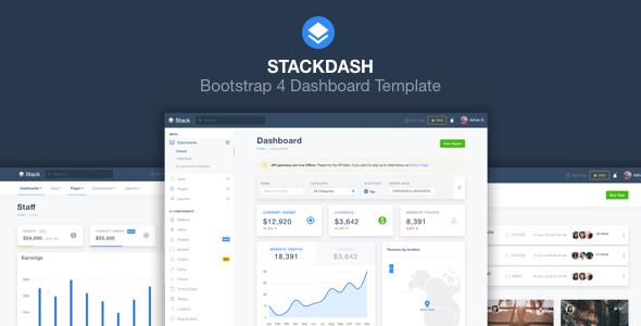 StackDash - Bootstrap 4 Admin Dashboard Theme - Admin Templates Site Templates