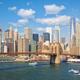 Famous New York skyline with Brooklyn Bridge - PhotoDune Item for Sale