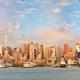 Manhattan skyline panorama at sunset - PhotoDune Item for Sale