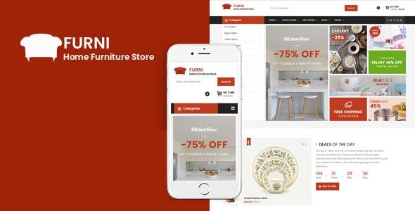 Sj Furni - Responsive Furniture VirtueMart 3 Template
