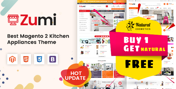 Zumi - Flexible and Modern Kitchen Appliance Magento 2 Theme - Shopping Magento