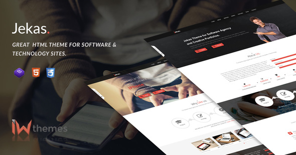 Software, Technology & Business Bootstrap Html Template - Jekas - Software Technology