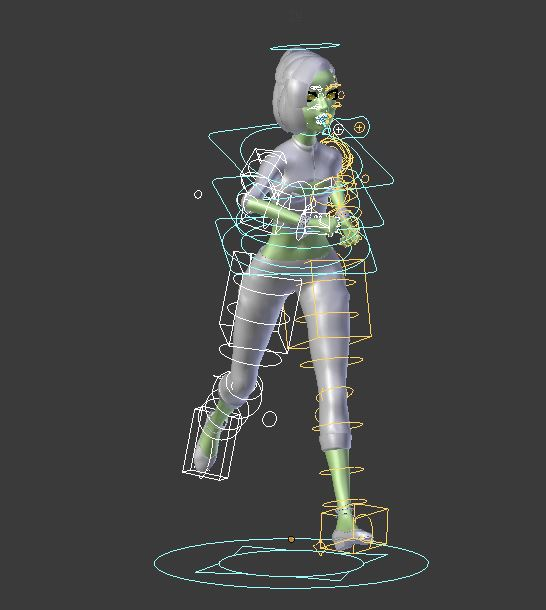 Marry Rigged Female Character in Blender | Supports Unity Unreal